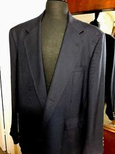 Orvis Mens 48L Navy Sport Coat Brass Color Buttons 3 Button Vintage