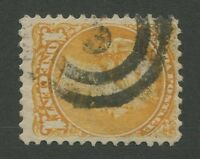"""CANADA #35 USED SMALL QUEEN 2-RING NUMERAL CANCEL """"3"""""""