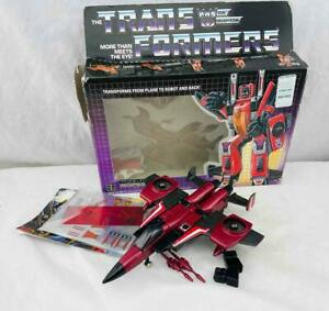 Transformers Original G1 1985 Seeker Jet Thrust Complete w/ Box Sealed Stickers