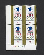 Us Scott # 2539 1991 Olympic Rings Plate Block Mint Never Hinged, Mnh Og