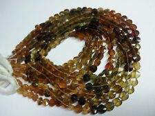 """5 STRANDS LOT PETRO TOURMALINE 4-5 MM FACETED COIN GEMSTONE  BEADS 13""""LONG"""
