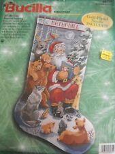 Woodland Storytime Stocking Needlepoint Kit by Bucilla 60759 A