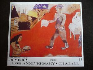 Stamps - Dominica - Scott# 1012 - Souvenir Sheet - Imperf
