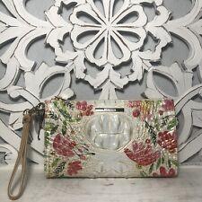 Brahmin Daisy Wristlet Multi Salinger Floral Leather $155