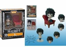 10CM Cartoon Anime DEATH NOTE 17# L W Movable Face Collectible Figure Model