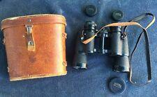 Vintage Tower 7 x 35 Model 6209 Coated Optics Japan Binoculars & Case Solid!