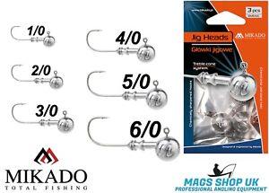 MIKADO FISHING JIG HEADS ''OMGAJL'' VARIETY SIZES & WEIGHTS, PREDATOR, SPINNING