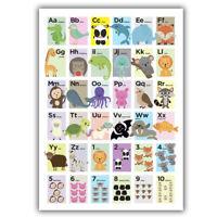 ABC Alphabet Poster, Kids Educational Wall Charts, Classroom, School, Nursery