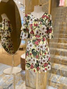 Dolce and Gabbana Cotton Floral Dress 38 S