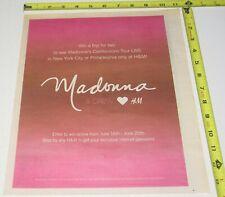 Madonna H&M Concert Ad Advert 2006 Confessions Tour Ny Philadelphia Area Pop