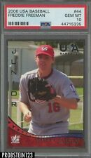 2006 USA Baseball #44 Freddie Freeman RC Rookie 1st Card PSA 10 Braves