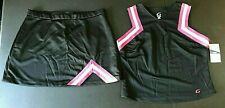 New Real Cheer Uniform Authentic Gtm Cheerleading Skirt and Top Red Black Pink