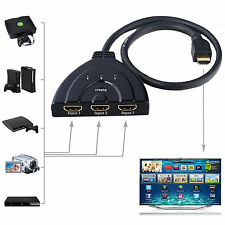 3 Port 1.4 HDMI Switcher Splitter HDTV Xbox One 360 PS3 PS4 Pigtail Cable SwitBE