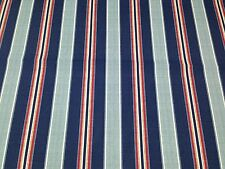 "BRYANT KINGSTON STRIPE ARBOR BLUE RED TAN INDOOR OUTDOOR FABRIC BY YARD 54""W"