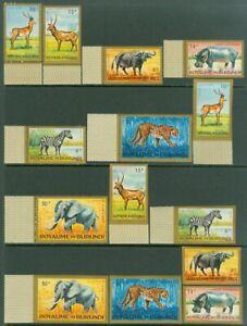 EDW1949SELL : BURUNDI 1964 Scott #C1-7 Animals. Complete set of Perf & Imperf.