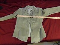 MARGARET GODFREY Size 8 Leather Blazer Jacket ~ NM 13330