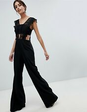 749022b7765 ASOS™  106 DESIGN Lace Top Jumpsuit With Wide Leg - Black Teal  1246173