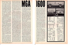 1960 MG MGA 1600 ~ ORIGINAL 2-PAGE ROAD TEST / ARTICLE / AD