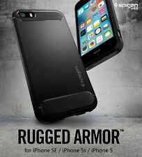 Original Spigen Rugged Armor Case For iPhone SE / iPhone 5S / iPhone 5