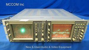 Leader 5850C NTSC Vectorscope & 5100 Component HD RGB Waveform Monitor
