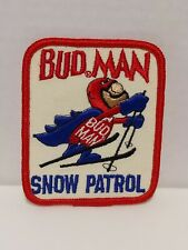 Bud Man Budweiser Beer Snow Patrol Patch Budman Skiing Anheuser Busch Promo