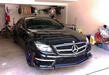 CARBON FRONT LIP SPOILER R STYLE 3PCS FOR MERCEDES BENZ W218 CLS63 ONLY
