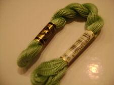 DMC coton perlé N° 5 pour la grosseur et N°966 pour la couleur, long 25 mètres