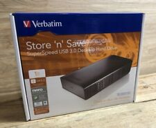 Verbatim Store 'n' Save 1TB External Desktop Hard Drive. Black. Brand New.