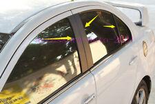 For Mitsubishi Lancer Evo 2008-2017 Carbon Fiber Window Center Pillar Stickers (Fits: Mitsubishi Lancer)