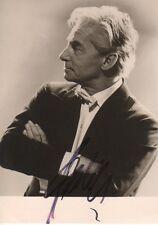 Herbert von Karajan Conductor signed 4x6 inch postcard autograph