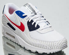 Nike Air Max 90 Euro Tour Men's White University Red Lifestyle Sneakers Shoes