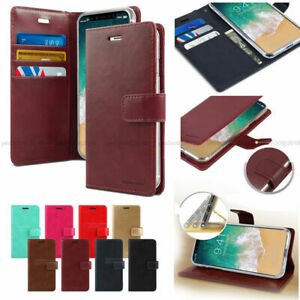 Goospery Slim Flip Leather Wallet Case Cover For iPhone 7 8 11 12 Plus XS Max
