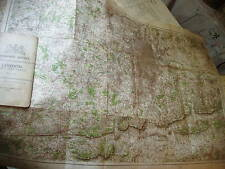 LONDON:ANTIQUE ORDNANCE MAP 1903-6:RELIEF SHADING;ROADS+ EDWARDIAN HOME COUNTIES