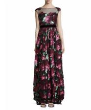 Badgley Mischka Evening Gown Dress Sequins Floral Sparkle $990.00 Size 4 ***