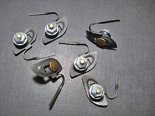 """6 pcs Ford hood quarter fender belt moulding clips sealer nuts 3/4"""" to 1"""" NOS"""