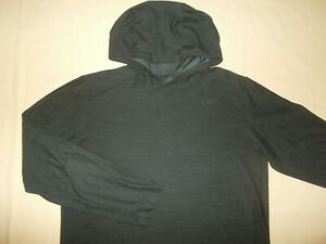 NIKE DRI-FIT LONG SLEEVE BLACK LIGHTWEIGHT HOODIE MENS LARGE EXCELLENT CONDITION