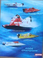 AFFICHE huile MOTUL bateau boat OFFSHORE 2004 championnat original poster