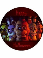 """five nights at freddy's 7.5"""" Personalised cake topper on Premium Wafer Card"""