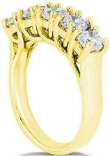 2.50 ct Round Diamond Ring Wedding 14k Yellow Gold Lucida Band G-H Si 5 x 1/2 ct