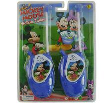 DISNEY MICKEY MINNIE MOUSE ELECTRONIC WALKIE TALKIE PLAY SET KID CHILDREN TOY