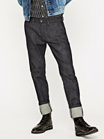 Pepe Herren Jeans Hose - James Slim Denim Chino Fit - Indigo blau - extra lang