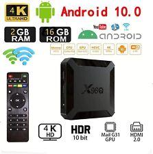 Sistema operativo Android 10.0 X96Q 2Gb 16GB UK Smart TV Box Wifi QUAD CORE 4K 3D Lettore multimediale
