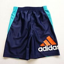 New adidas Kids Boys Sz 5 Navy Blue Original Logo Shorts Gym Basketball