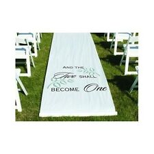 Aisle Wedding Runner White Elegant Fairytale Indoor Outdoor Bride Groom Ceremony