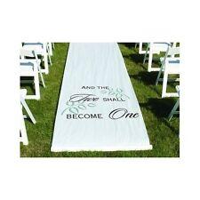 Aisle Wedding Runner White Elegant Fairytale Indoor Outdoor Bride Groom Ceremony