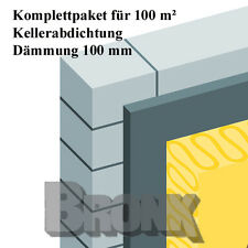 Kellerabdichtung Kellerisolierung Perimeterdämmung 100 m², Dämmung 100mm
