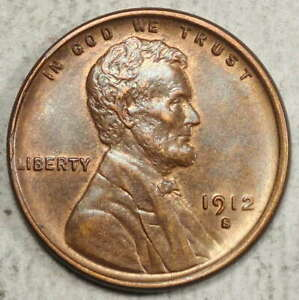 1912-S Lincoln Cent, Choice Almost Uncirculated, Semi Key Date  0923-05