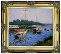 Framed Caillebotte Gustave basin at Argenteuil Repro, Oil Painting 20x24in