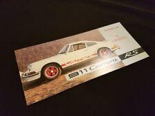 Original Porsche 911 Carrera RS Brochure Catalog Catalogo Catalogue