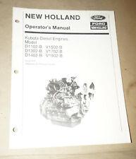 Ford New Holland Kubota Diesel Engines Operator's Manual P/N 42545501